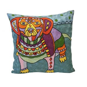 Embroidered cushion