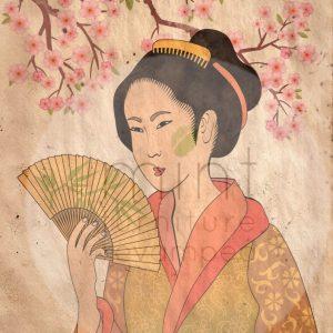 geisha-decoupage