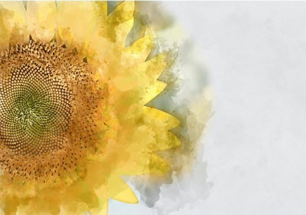yellow sunflower decoupage paper