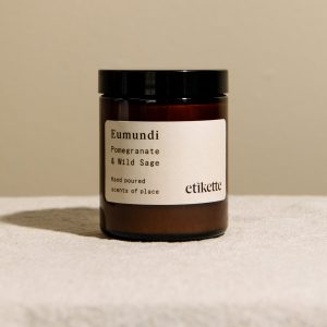 etikette candle eumundi. Pomegranate and Wild Sage